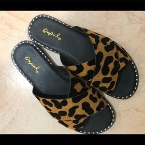 Qupid Leopard Sandals ... BRAND NEW